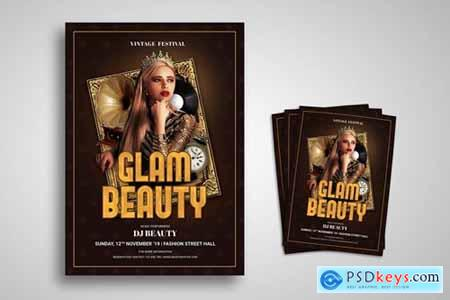 Glam Beauty Flyer Promo Template