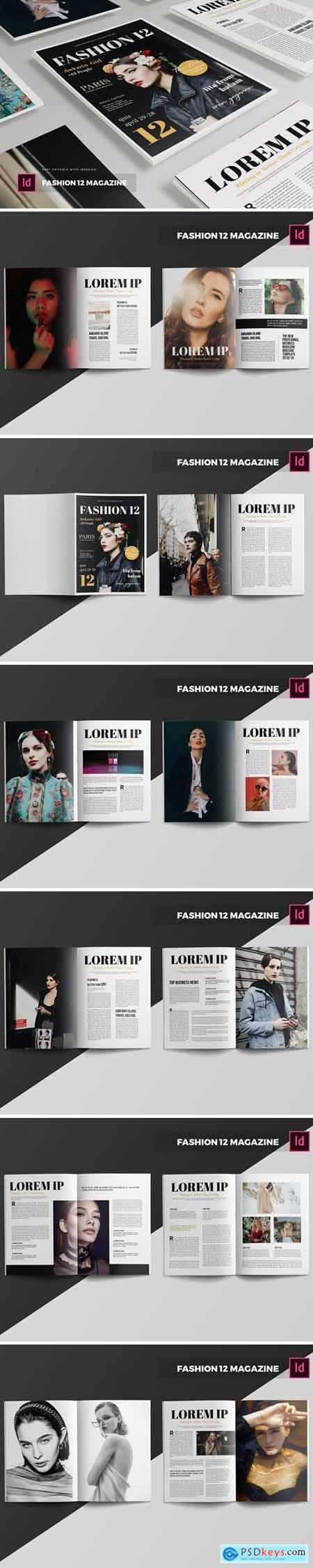 Fashion 12 Magazine Template