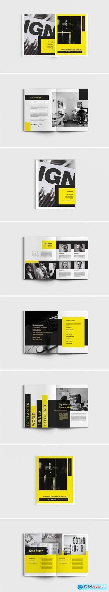 Lancer - A4 Freelancer Brochure Template