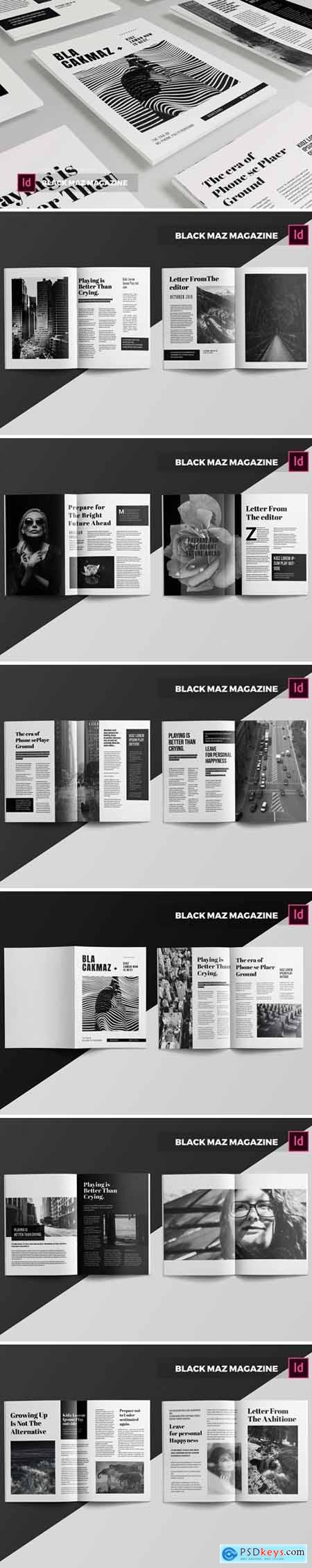 Black Maz Magazine Template