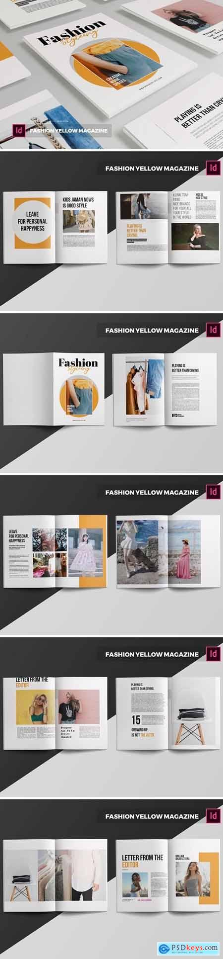 Fashion Yellow Magazine Template