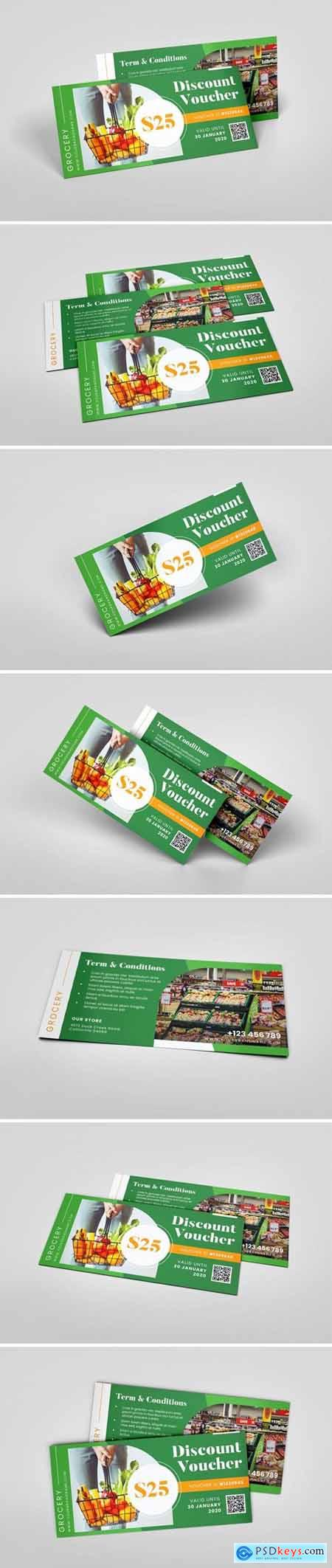 Grocery Supermarket AI and PSD Gift Voucher