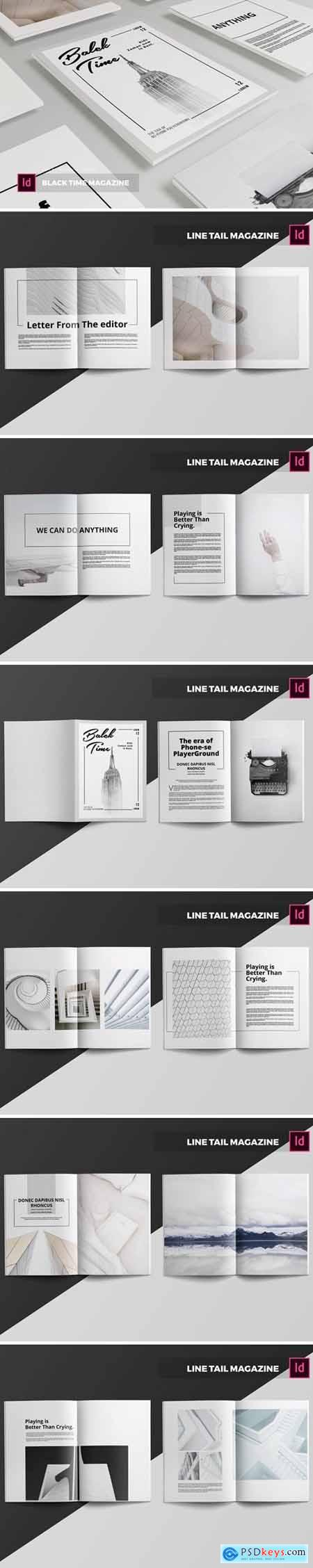 Line Tail Magazine Template
