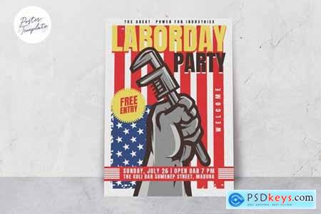 Labor Day Theme Poster Template