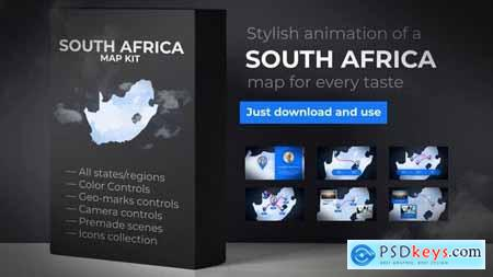 VideoHive South Africa Map - Republic of South Africa Map Kit