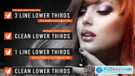Videohive Clean Lower Thirds 9332607