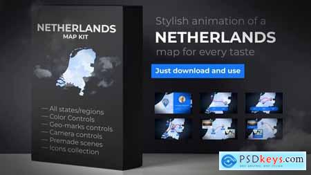 Videohive Netherlands Map Kit - Kingdom of the Netherlands Map
