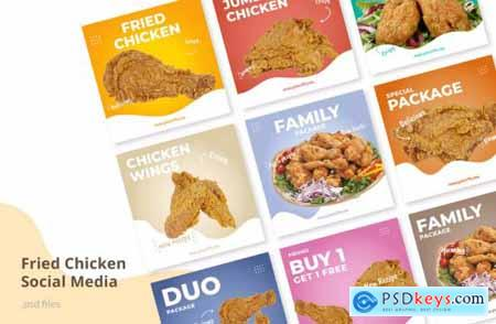 Social Media Kit Fried Chicken