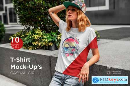 T-Shirt Mock-Up's Casual Girl 3797643
