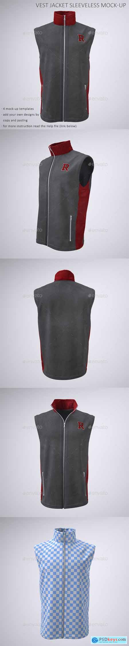 Vest or Sleeveless Jacket Mock-Up 22766697