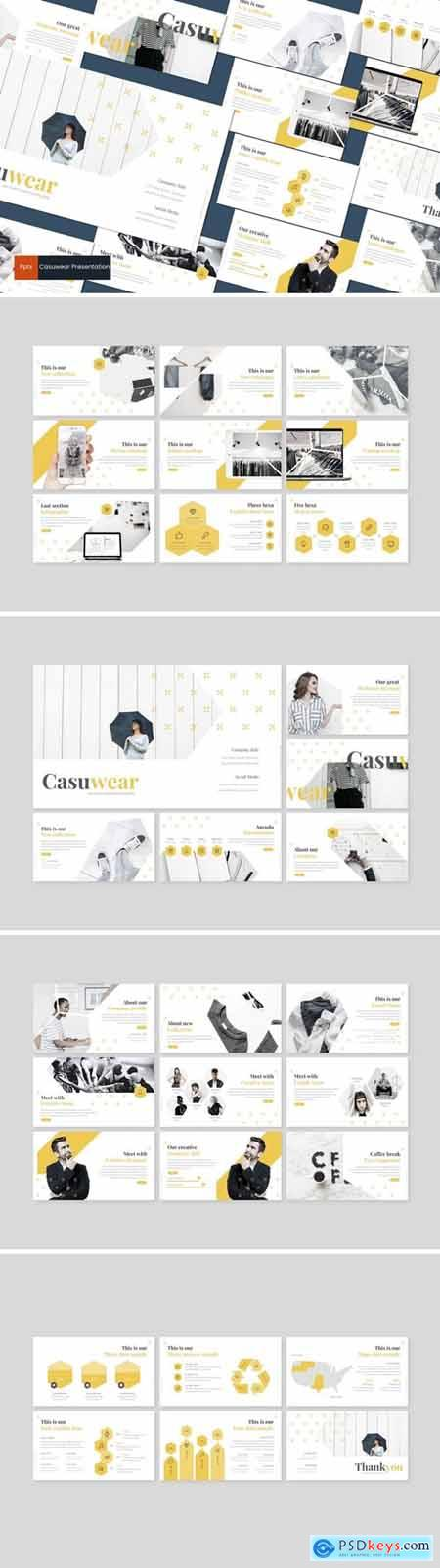 Casuwear Powerpoint, Keynote and Google Slides Templates