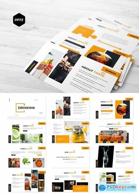 Drinkink Powerpoint, Keynote and Google Slides Templates
