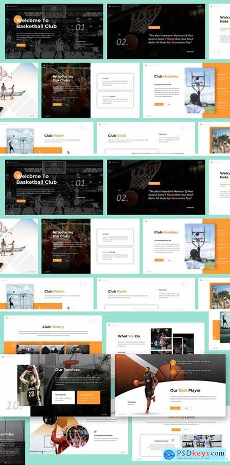 Basketball Powerpoint, Keynote and Google Slides Templates