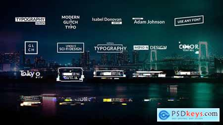 VideoHive Glitch Titles Animations 24215198