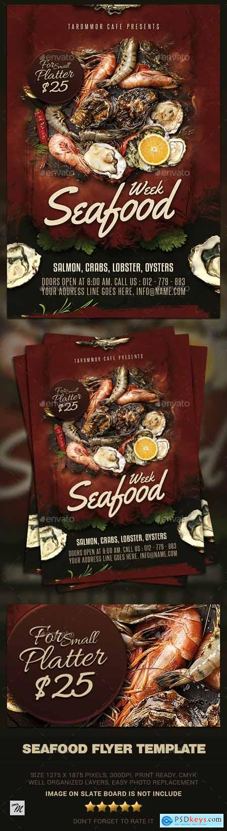 Seafood Flyer Template 24092695