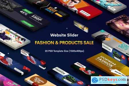 Website Sliders Product Sale - 20 PSD