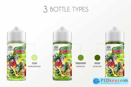 eLiquid Bottle Mockup v 100ml-C Plus 3885201