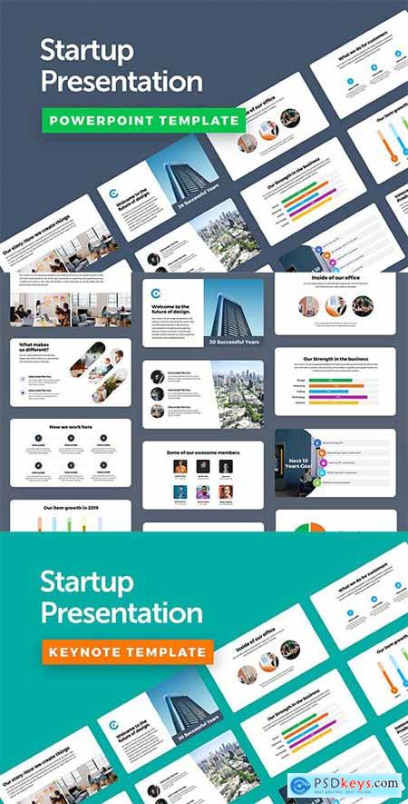 Startup Powerpoint and Keynote Templates