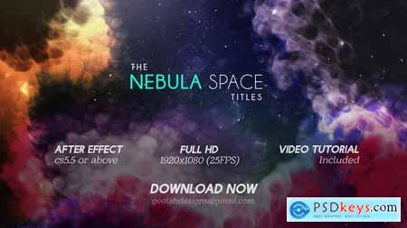 VideoHive The Nebula Space Titles The Galaxy Titles