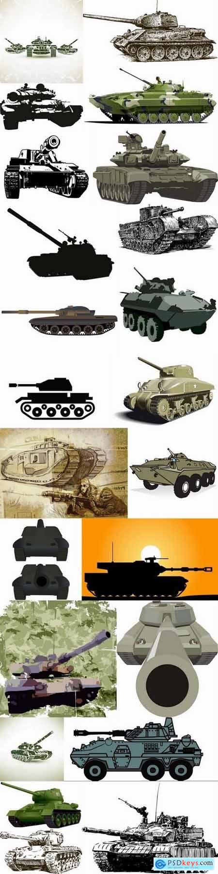 Vector images of tanks 25 Eps