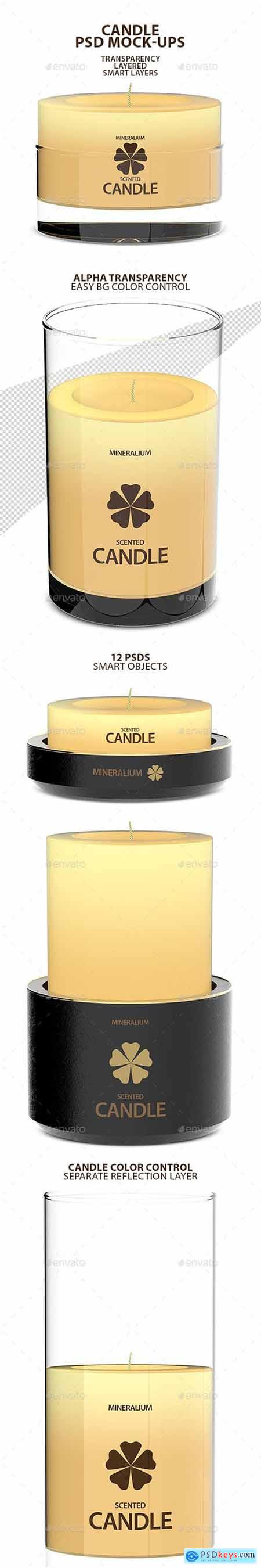 Candle PSD Mock-ups