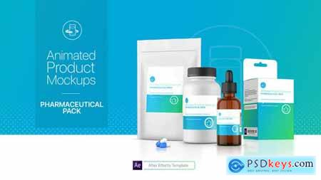 VideoHive Animated Product Mockups - Pharmaceutical Pack