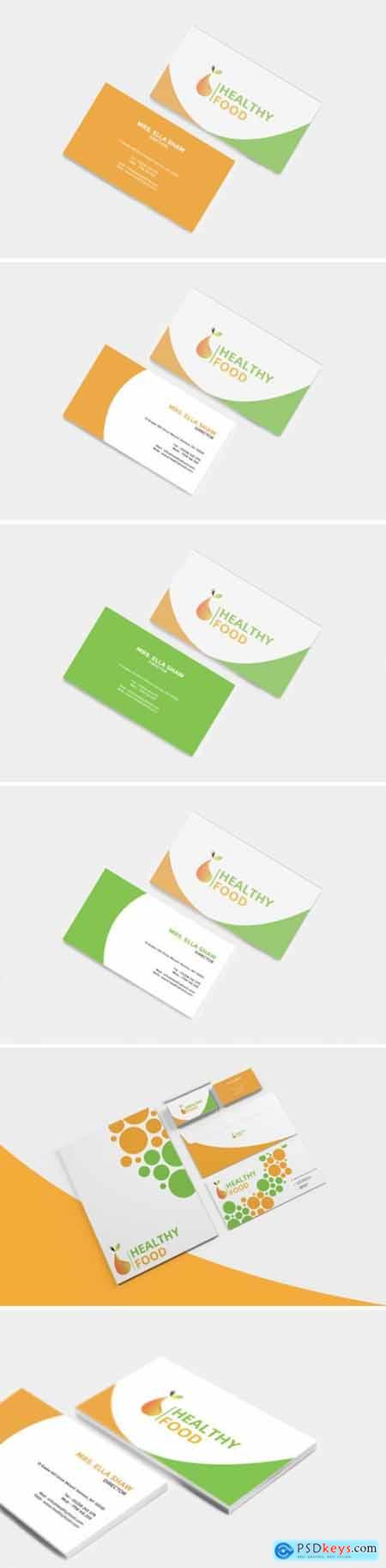 Healthy Food Business Card 1663563