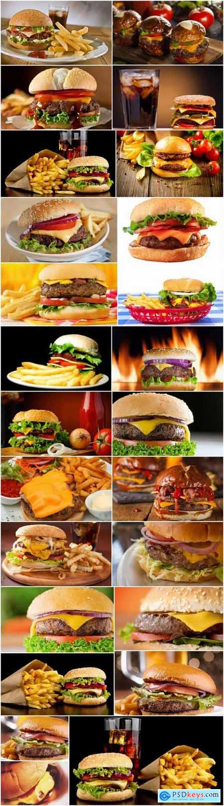 Cheeseburger fast food hamburger sandwich 25 HQ Jpeg