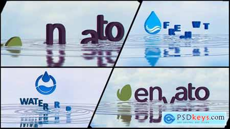 VideoHive Corporate Logo V21 Water Ripples Emerge