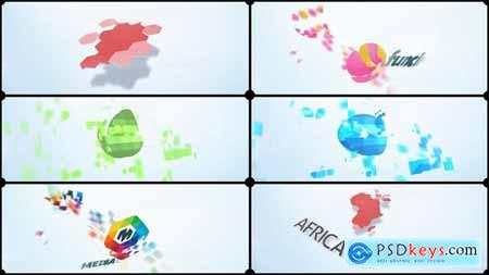 VideoHive Fragments Corporate Logo 14645515