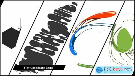 VideoHive Flat Corporate Logo V04 Liquid
