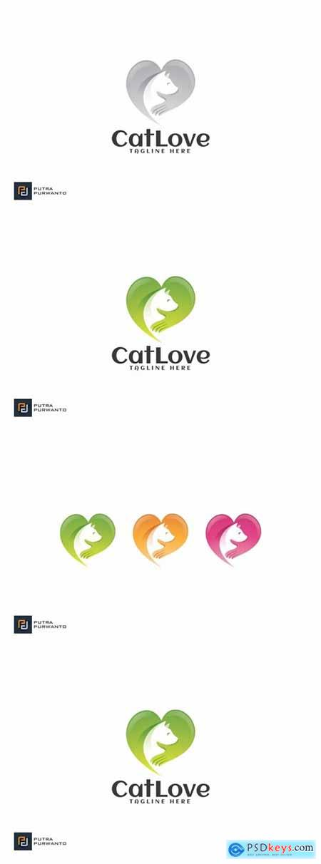 Cat Love - Logo Template