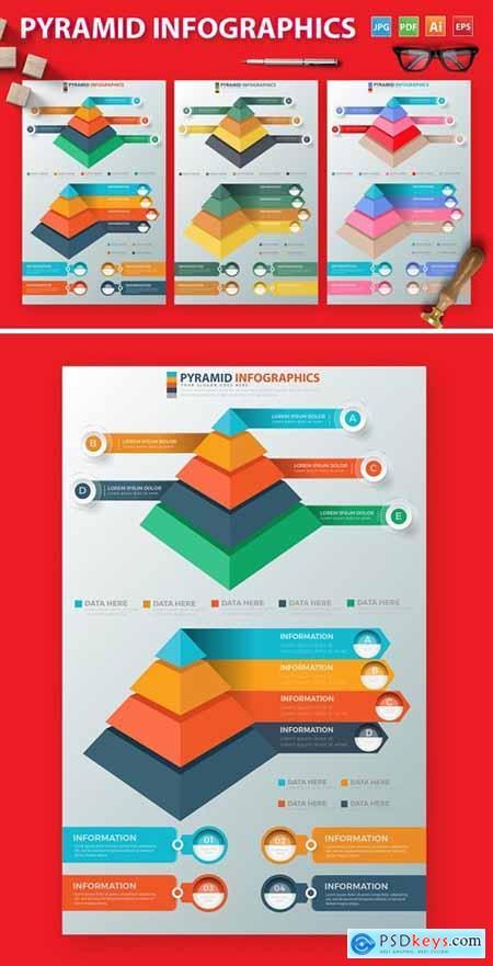 Pyramid Infographics Design