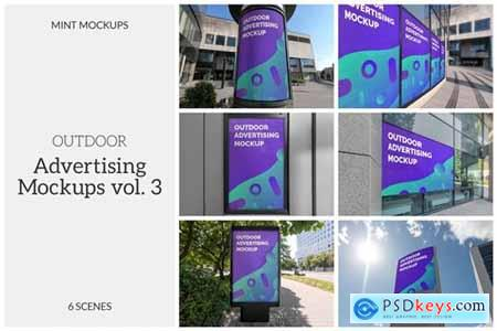 Outdoor Advertising Mockups Vol. 3