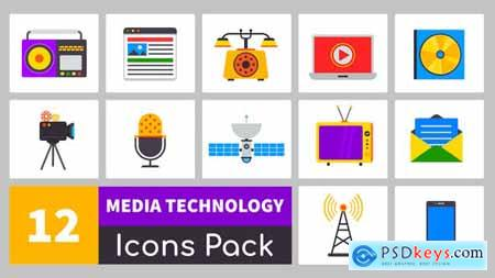 VideoHive Truly Animated Media Technology Icons