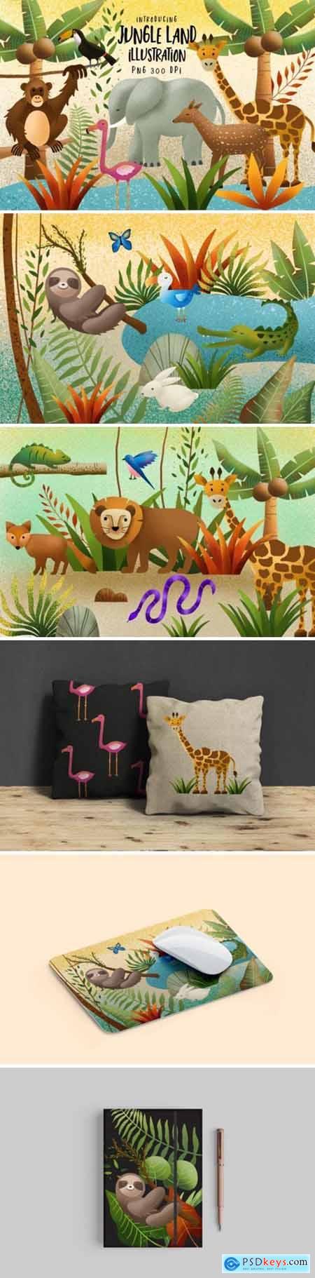 Jungle Land Illustration 1666170