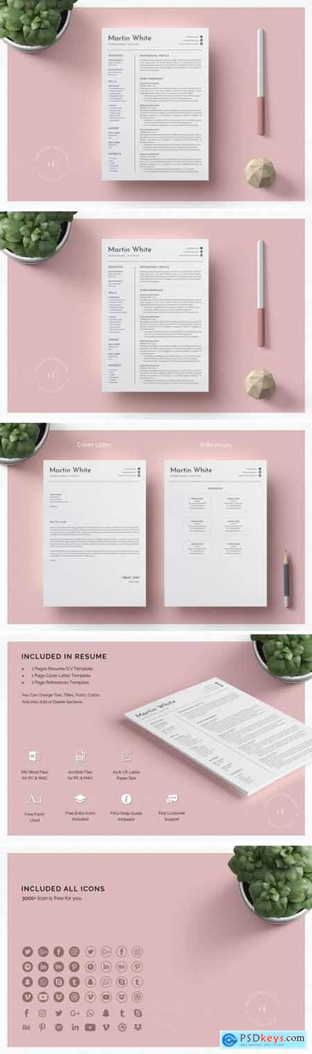 Minimal Resume Cv Word Template