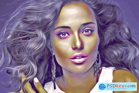 Digital Painting Photoshop Action 3969610