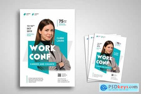Workshop and Conference Flyer Promo Template » Free Download