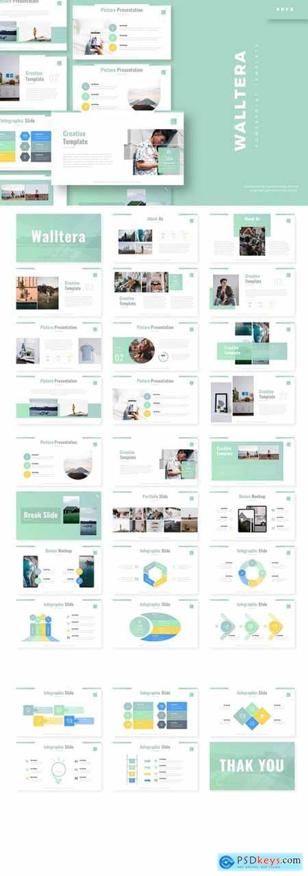 Walltera Powerpoint, Keynote and Google Slides Templates