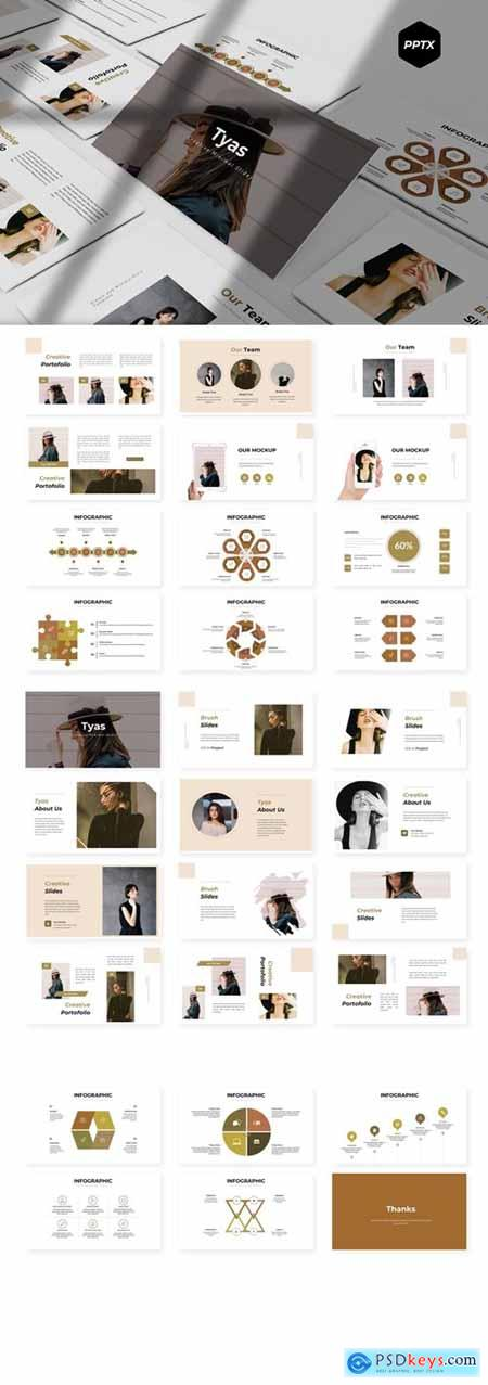 Tyas Powerpoint, Keynote and Google Slides Templates