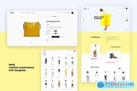 Ne02 - Fashion Ecommerce PSD template
