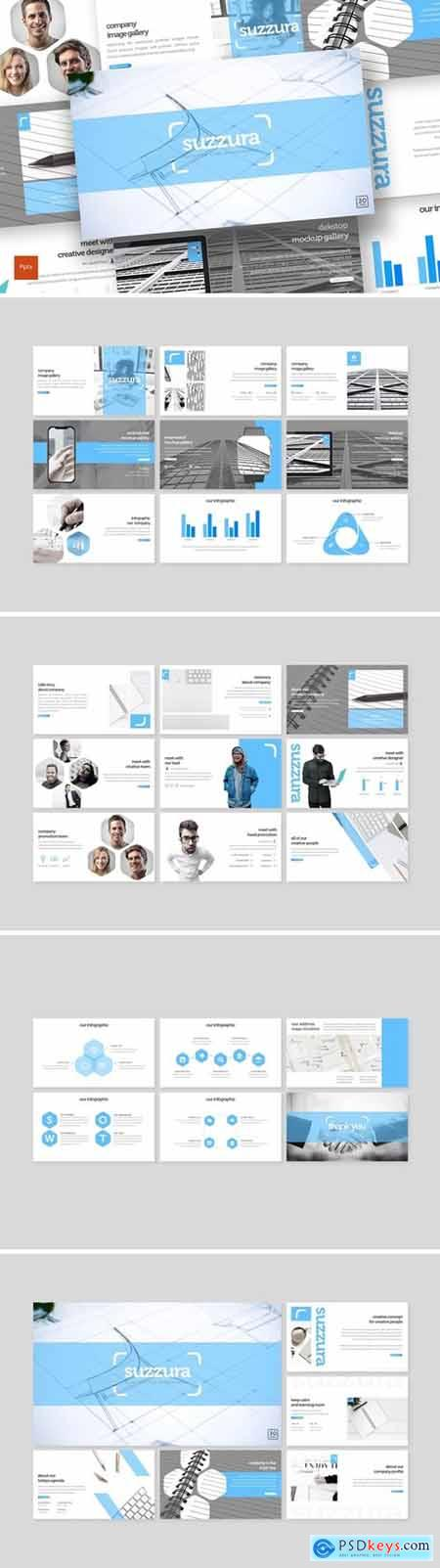 Suzzura Powerpoint, Keynote and Google Slides Templates