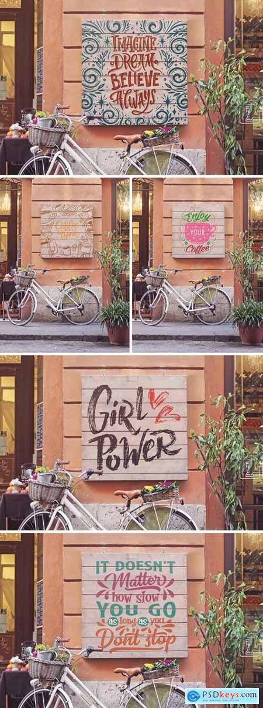Bike Duo Signboard Mockup