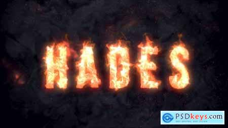 VideoHive Hades - Animated Fire Typeface