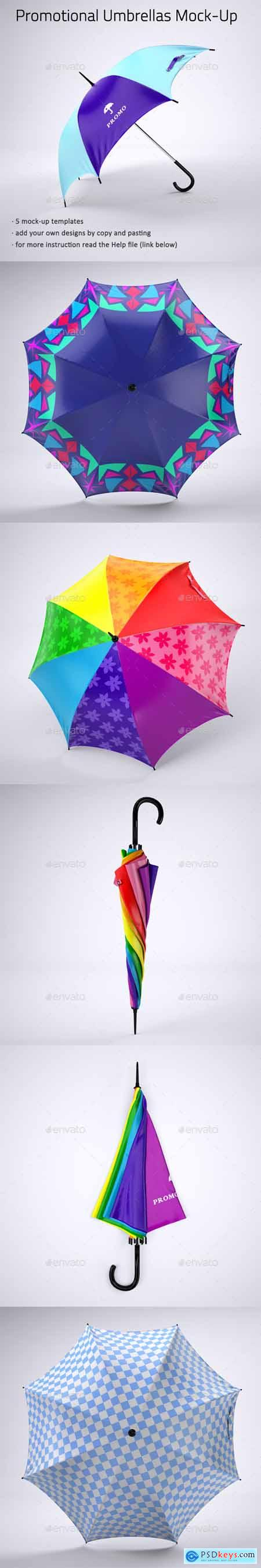 Promotional Umbrella Mock-Up 21411363