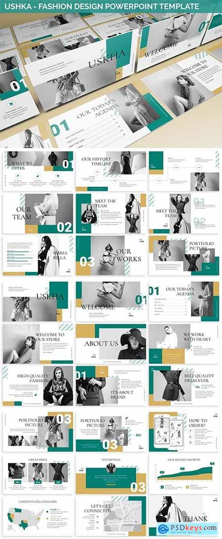 Ushka - Fashion Design Powerpoint Template » Free Download