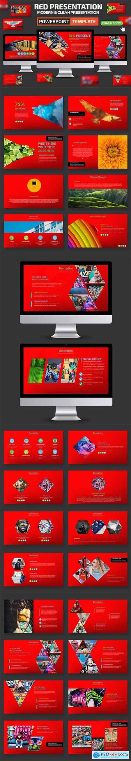 Red Powerpoint and Keynote Presentation