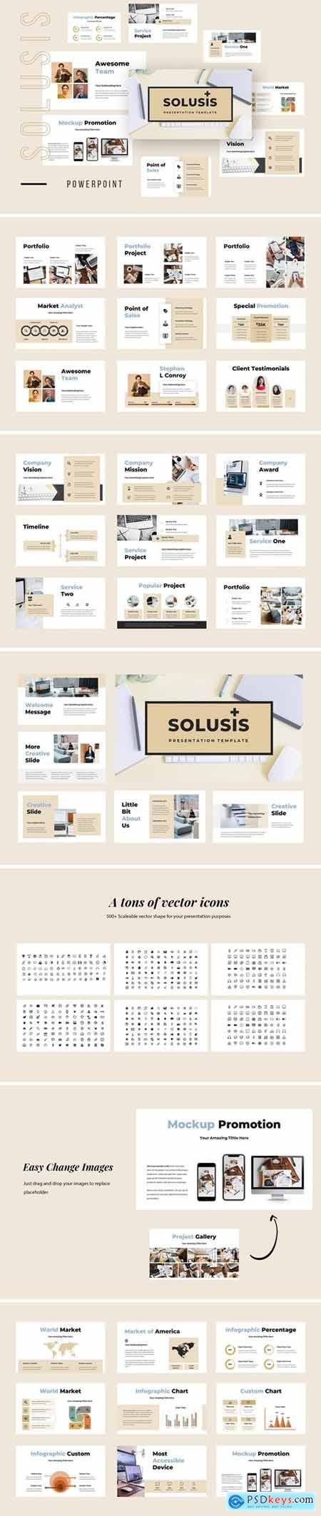 Solusis - Business Powerpoint, Keynote and Google Slides Templates