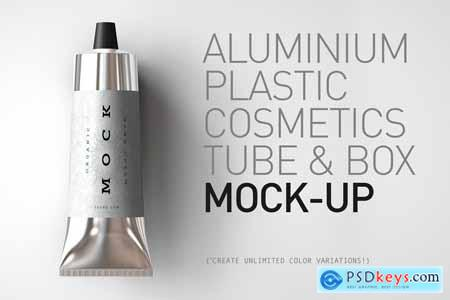 Aluminium Plastic Tube Mock-Up 3885754 » Free Download